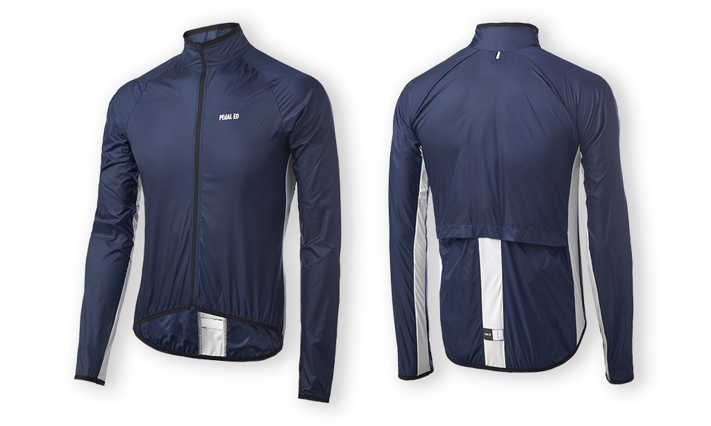 GIACCA CICLISMO PEdALED VESPER PACKABLE JACKET NAVY