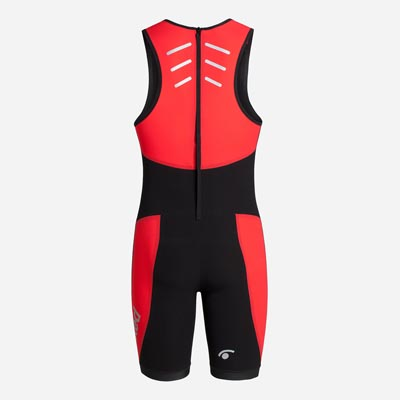 JAKED SWIMSKIN BOOSTER TRIATHLON UNISEX BLACK RED BACK.jpg