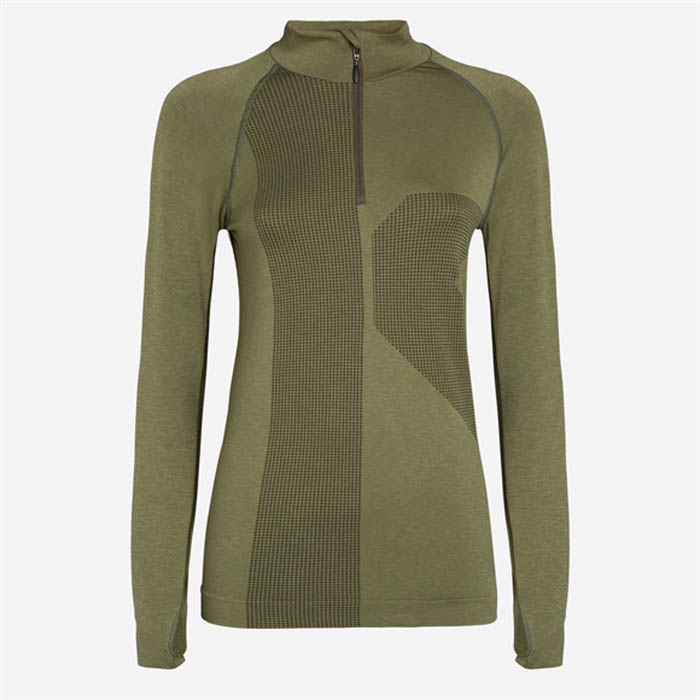 MAGLIA SEAMLESS DONNA JAKED SKIN JATSD99007 ARMY GREEN.jpg