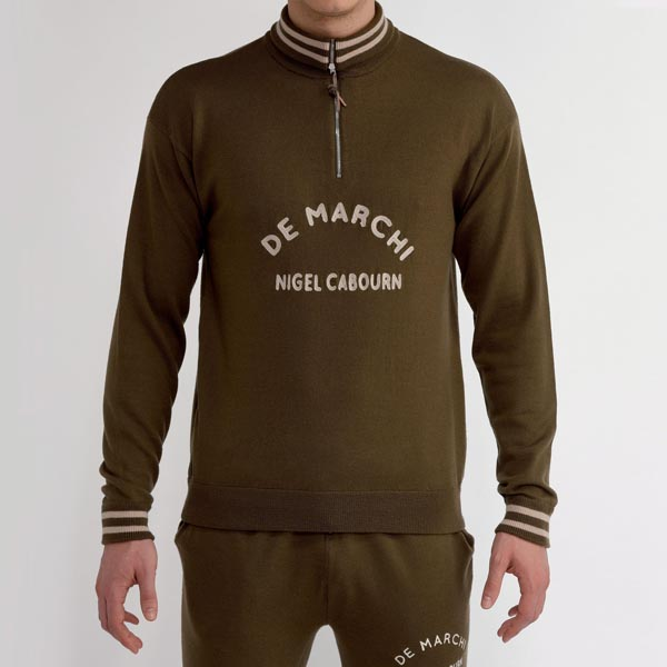 MAGLIA VINTAGE DE MARCHI NIGEL CABOURN CHAMPIONS TRACK TOP ARMY.jpg
