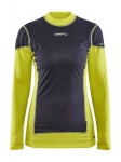 CRAFT EXTREME X WIND LS WOMEN YELLOW AND BLACK