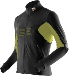 MAGLIA NEVE X-BIONIC SKI MAN RACCOON 2ND LAYER FULL ZIP O100756 BLACK GREEN.jpg