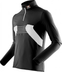 MAGLIA NEVE X-BIONIC SKI MAN RACCOON 2ND LAYER ZIP UP O100754 BLACK WHITE.jpg