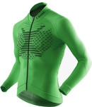 MAGLIA X-BIONIC BIKING MAN TWYCE OW SHIRT LONG FULL ZIP GREEN-BLACK O100593
