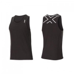 MAGLIA RUNNING 2XU MEN'S ACTIVE RUN SINGLET MR4268 BLK WHT