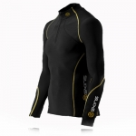 skins-a200-men's-thermal-long-sleeve-compression-top-with-zip
